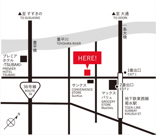 HOTEL POTMUM STAY & COFFE地図