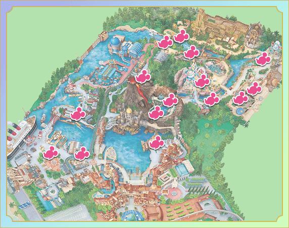 ハピエストミッキースポットマップ