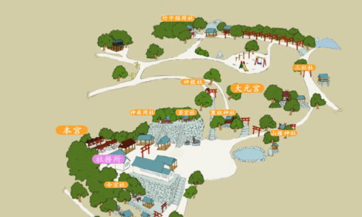吉田神社境内マップ