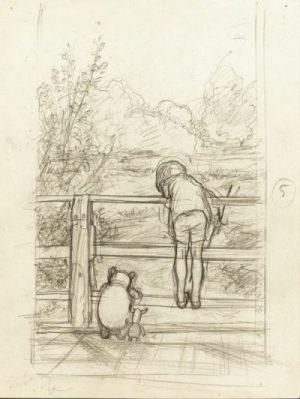 プーさん展鉛筆画